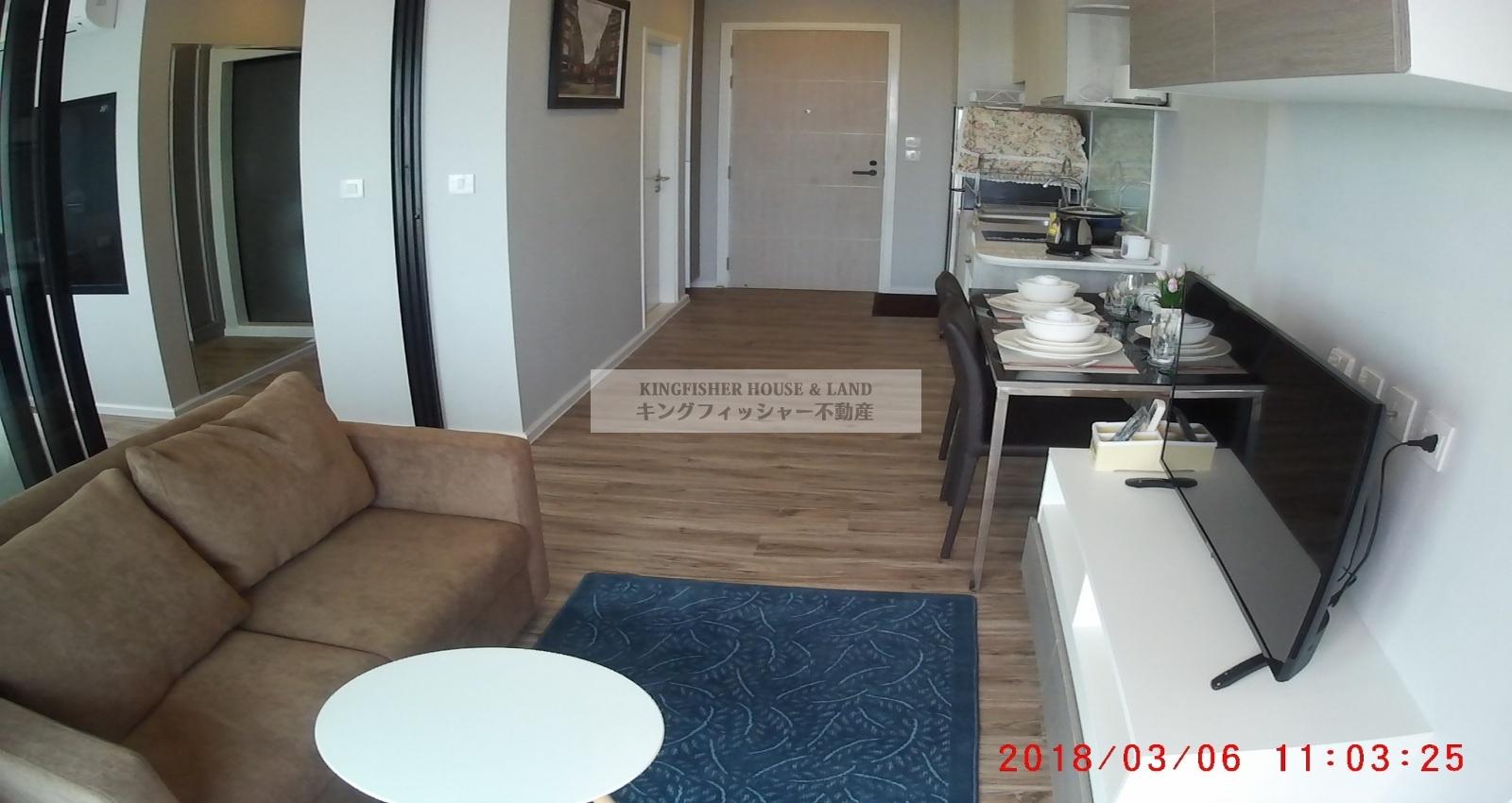 1 Bedrooms, Condominium, For Rent, 1 Bathrooms, Listing ID 1219, Sriracha, Thailand, 20110,